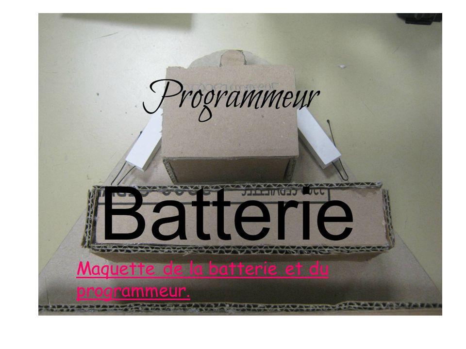 Maquette de la batterie et du programmeur.