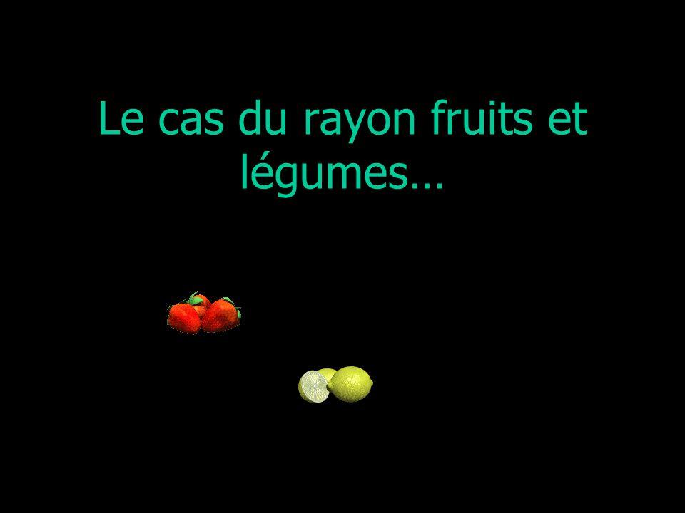 Le cas du rayon fruits et légumes…