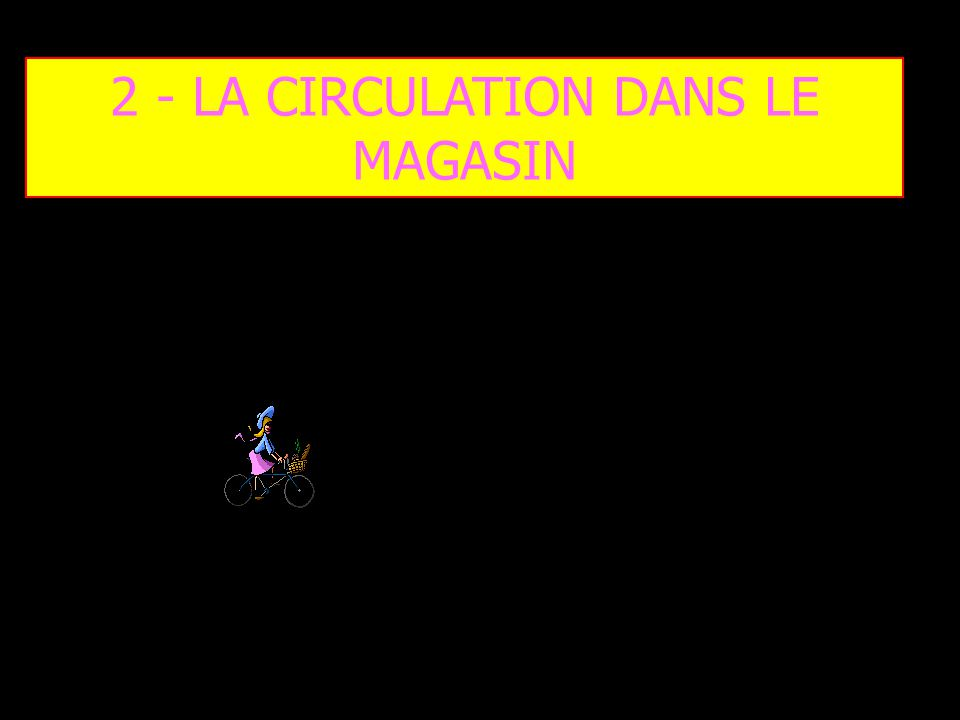 2 - LA CIRCULATION DANS LE MAGASIN