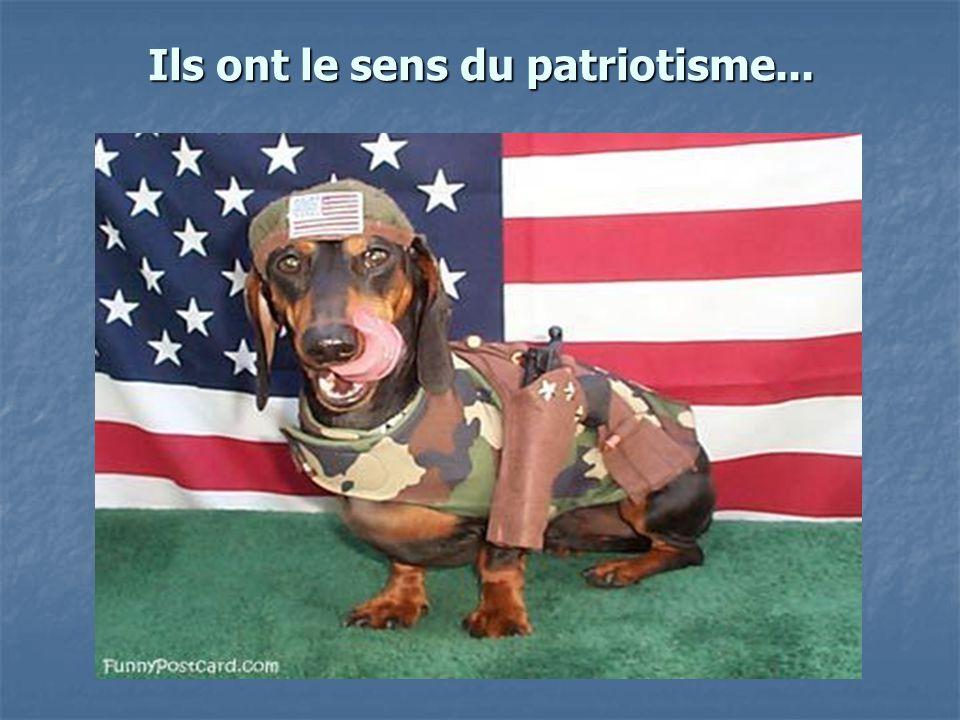 Ils ont le sens du patriotisme...