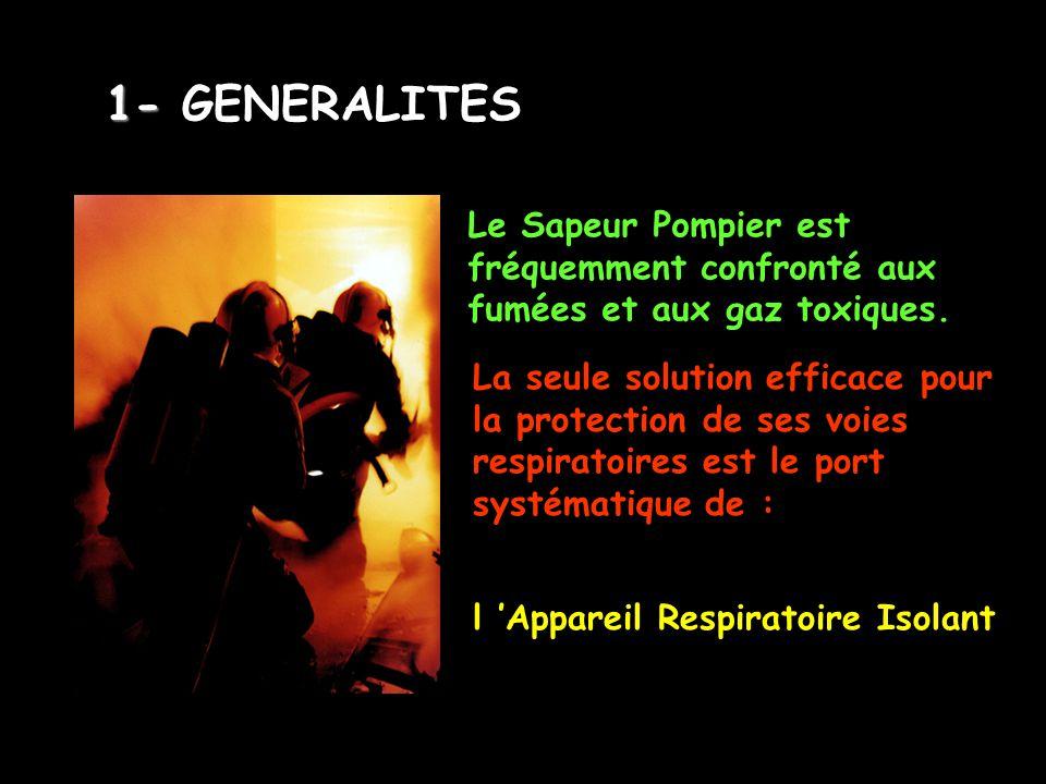 Le Sapeur Pompier est fréquemment confronté aux fumées et aux gaz toxiques. La seule solution efficace pour la protection de ses voies respiratoires e