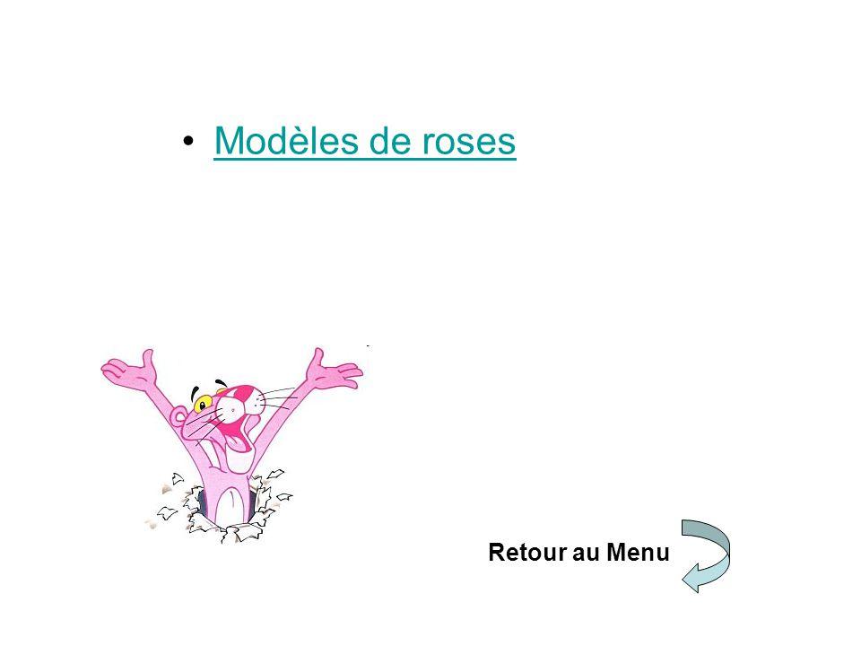 Modèles de roses Retour au Menu
