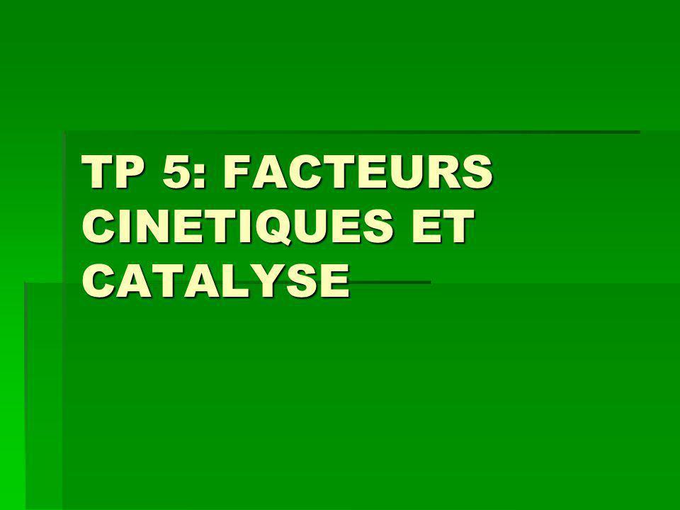 I- REACTIONS LENTES, REACTIONS RAPIDES MnO 4 - (aq) + 5 Fe 2+ (aq) + 8 H + (aq) Mn 2+ (aq) + 4 H 2 O (l) + 5 Fe 3+ (aq) Qdm EI n(MnO 4 - ) i n(Fe 2+ ) i excès 0 solvant 0 qdm En cours n(MnO 4 - ) i – x n(Fe 2+ ) i – 5x x 5 x qdm EF n(MnO 4 - ) i – x max n(Fe 2+ ) i - 5x max x max 5 x max