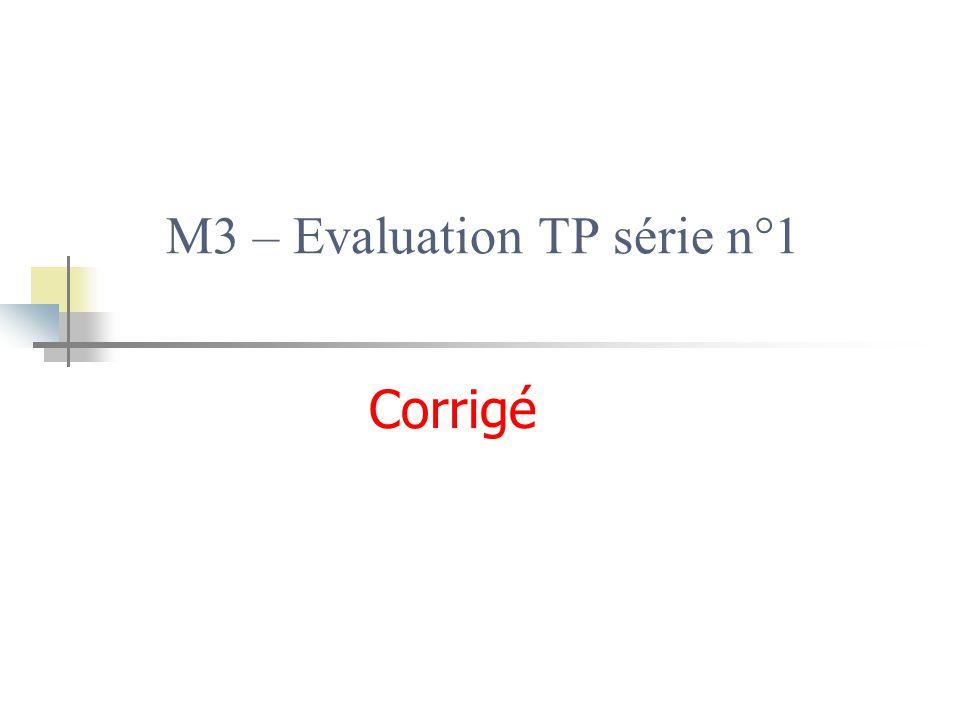 M3 – Evaluation TP série n°1 Corrigé