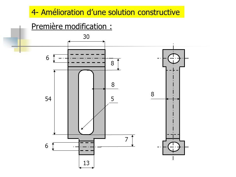 4- Amélioration dune solution constructive 30 13 6 6 545 8 7 8 8 Première modification :