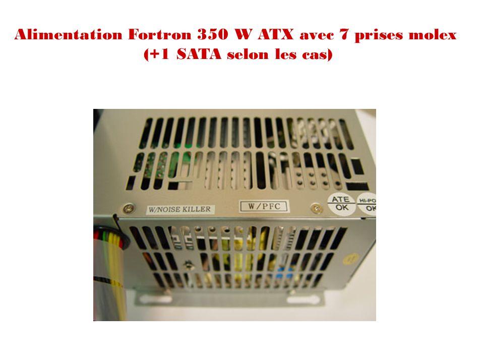 Alimentation Fortron 350 W ATX avec 7 prises molex (+1 SATA selon les cas)