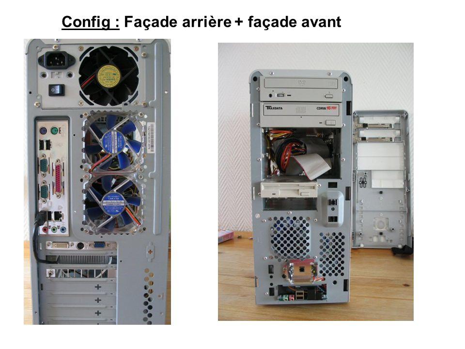 Config : Façade arrière + façade avant