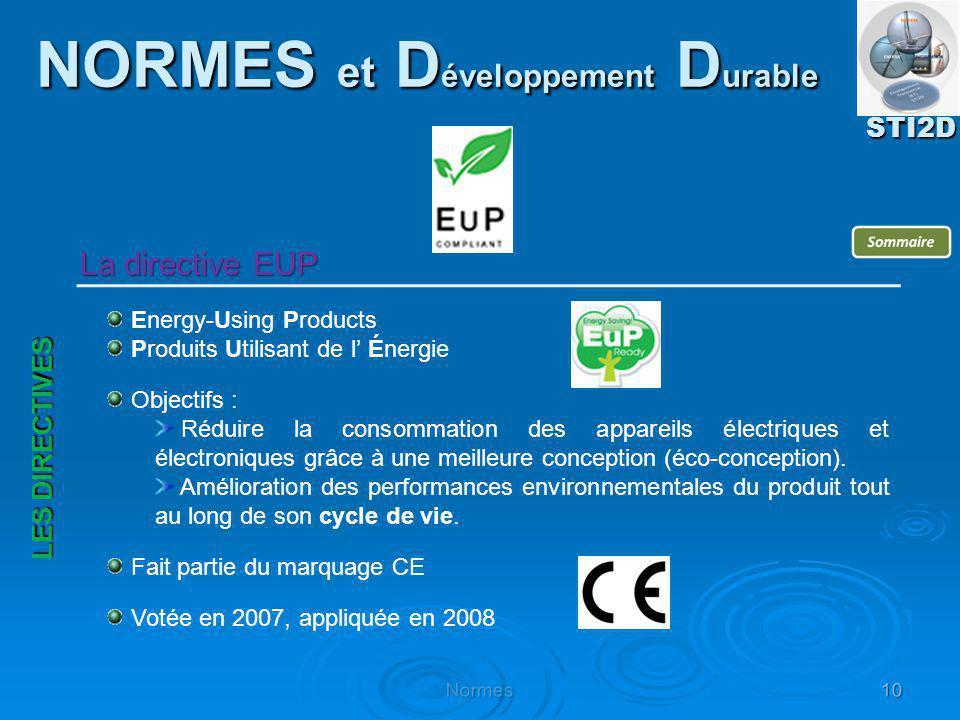 Energy-Using Products Produits Utilisant de l Énergie Objectifs : Réduire la consommation des appareils électriques et électroniques grâce à une meill