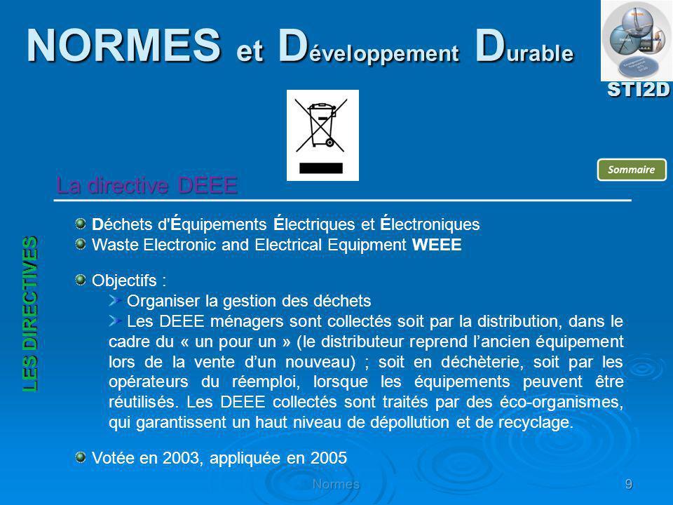 Déchets d'Équipements Électriques et Électroniques Waste Electronic and Electrical Equipment WEEE Objectifs : Organiser la gestion des déchets Les DEE