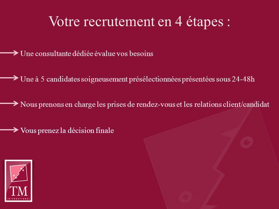 Contactez-moi pour en savoir plus Tanya Ireland t.ireland@tmi-paris.com 01 47 42 71 00 www.tmi-paris.com TM International 36-38, rue des Mathurins, 75008 Paris