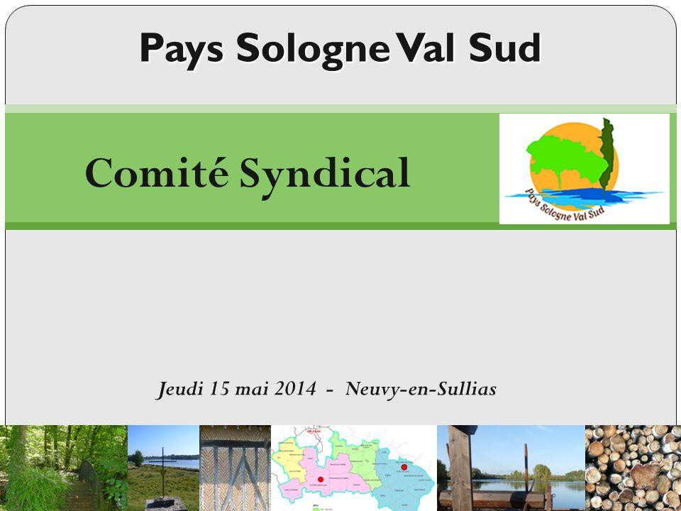 Pays Sologne Val Sud 3. Questions diverses Jeudi 15 mai 2014 - Neuvy-en-Sullias