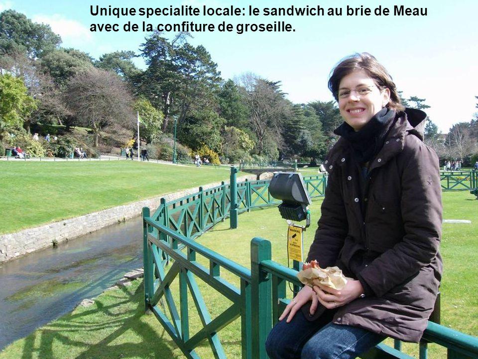 Unique specialite locale: le sandwich au brie de Meau avec de la confiture de groseille.