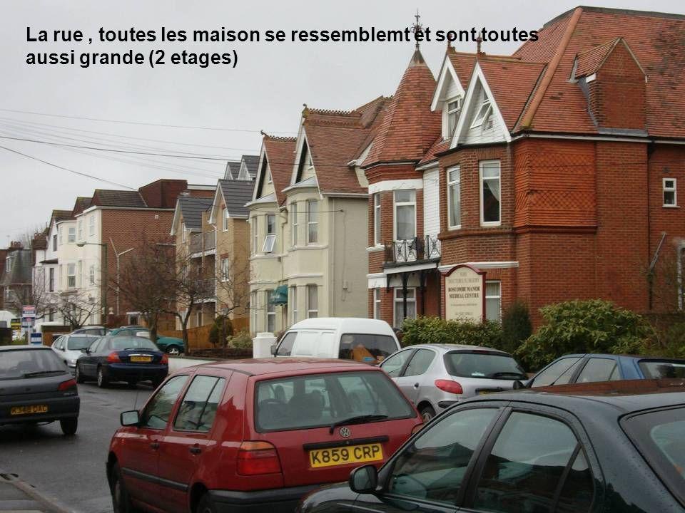 La rue, toutes les maison se ressemblemt et sont toutes aussi grande (2 etages)