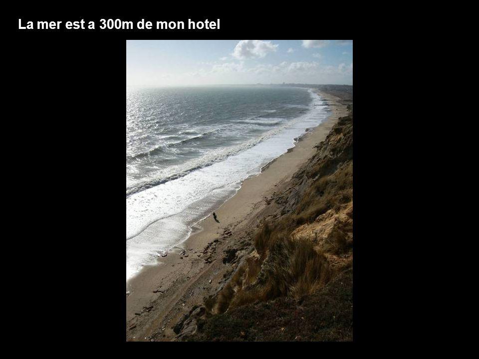 La mer est a 300m de mon hotel