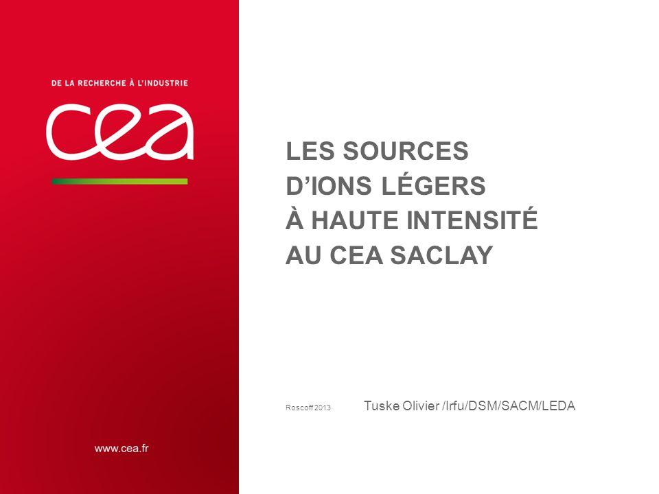 LES SOURCES DIONS LÉGERS À HAUTE INTENSITÉ AU CEA SACLAY Roscoff 2013 Tuske Olivier /Irfu/DSM/SACM/LEDA 1