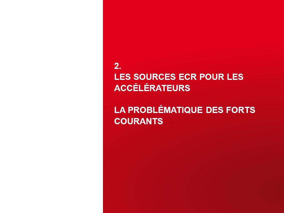 2. LES SOURCES ECR POUR LES ACCÉLÉRATEURS LA PROBLÉMATIQUE DES FORTS COURANTS 12
