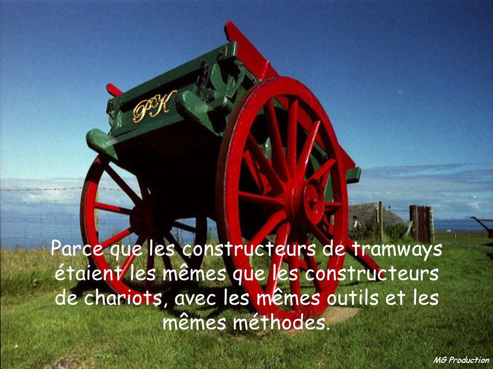 MG Production Parce que les constructeurs de tramways étaient les mêmes que les constructeurs de chariots, avec les mêmes outils et les mêmes méthodes.