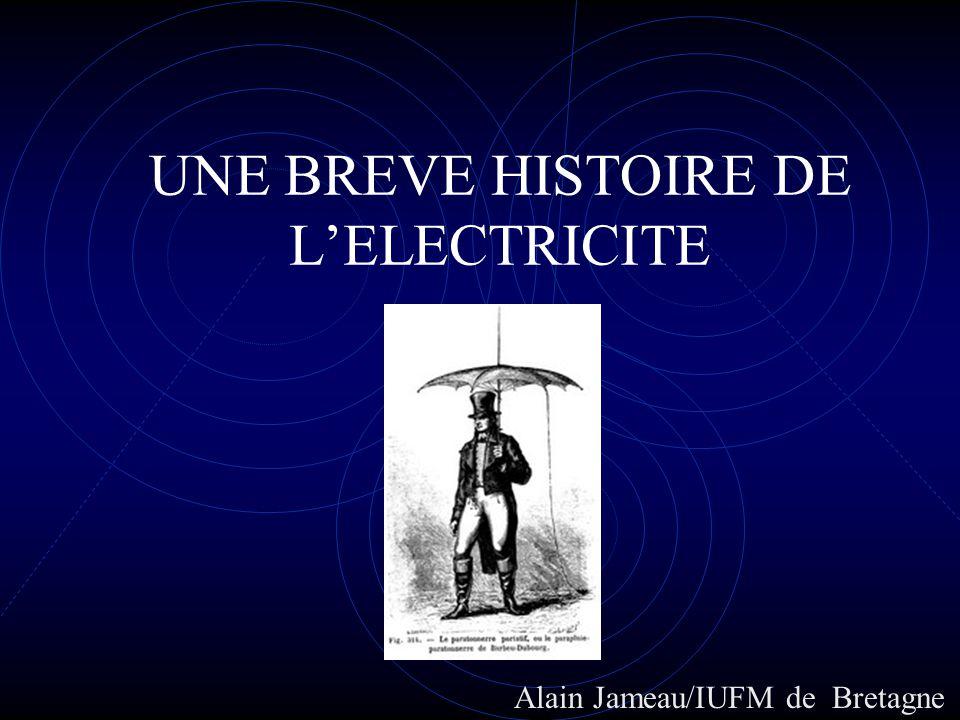 UNE BREVE HISTOIRE DE LELECTRICITE Alain Jameau/IUFM de Bretagne