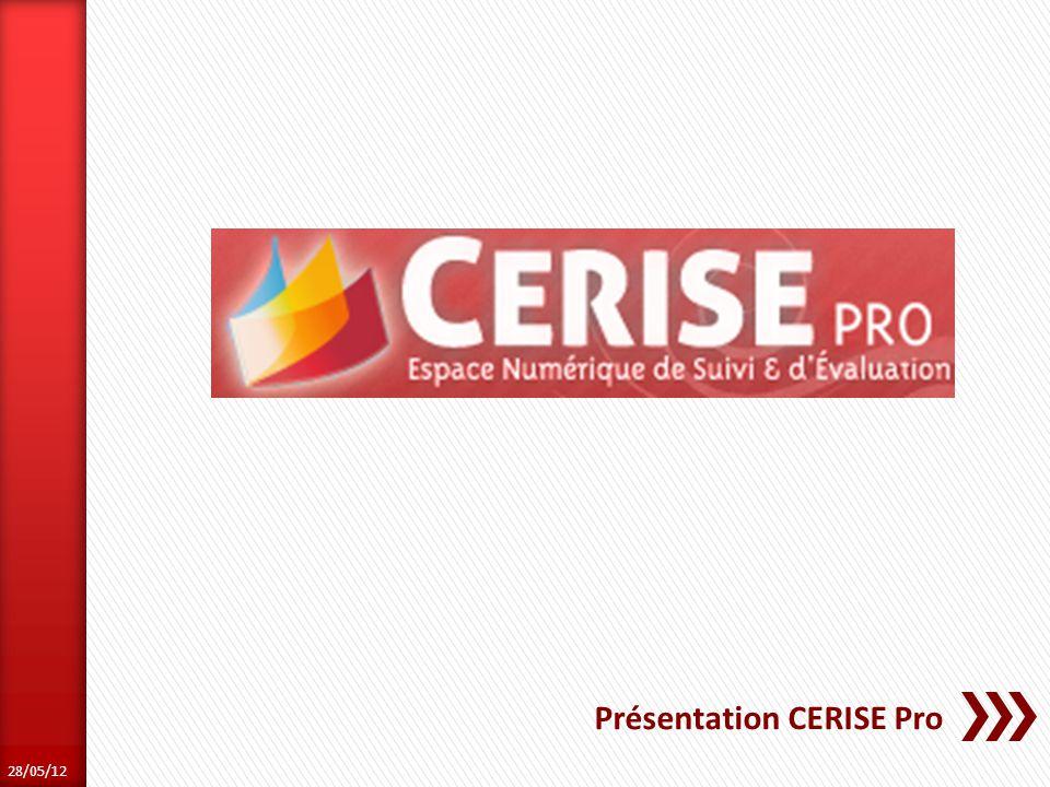 Présentation CERISE Pro 28/05/12