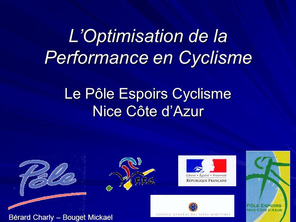 LOptimisation de la Performance en Cyclisme Le Pôle Espoirs Cyclisme Nice Côte dAzur Bérard Charly – Bouget Mickael