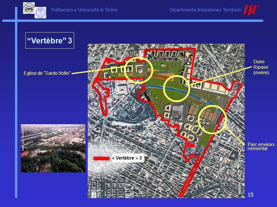 Politecnico e Università di Torino Dipartimento Interateneo Territorio 15 Eglise de Santo Volto Doire Ripaire (rivière) Parc environ- nemental « Vertè