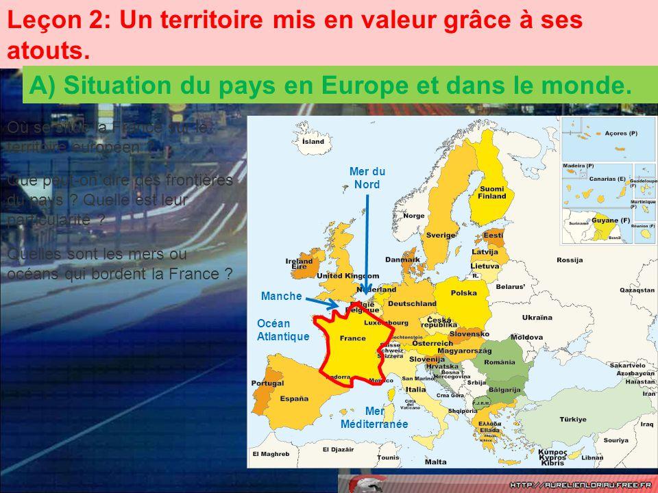 Le territoire métropolitain français possède une superficie de 552 000 km 2.