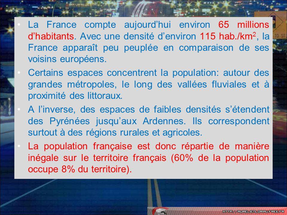 Quels éléments historiques pourraient expliquer en partie la répartition de la population sur le territoire national .