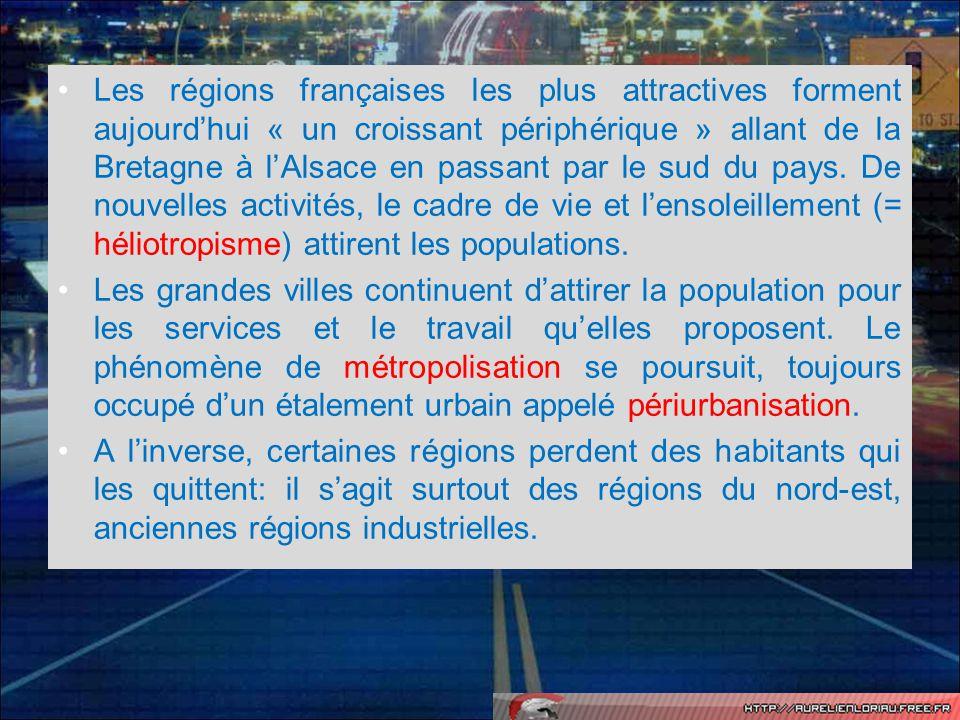 Quel autre phénomène est à lorigine de lévolution démographique des régions françaises .