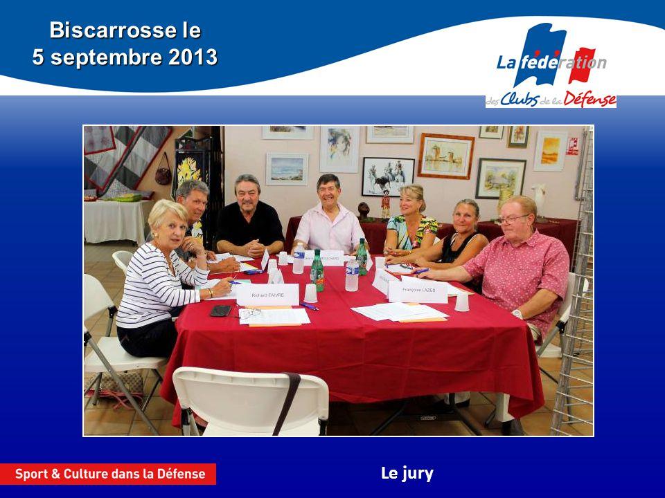 Biscarrosse le 5 septembre 2013 Le jury