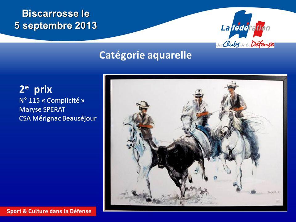 Biscarrosse le 5 septembre 2013 Catégorie aquarelle 1 er prix N° 70 « Guerriers 2 » Marie Labille CSA Mérignac Beauséjour