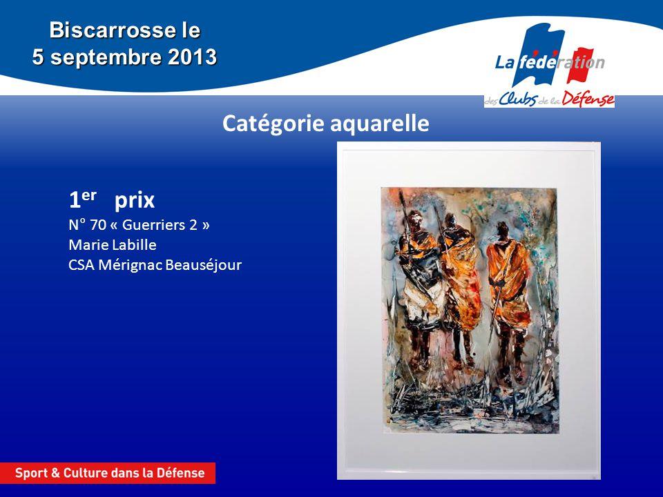 Biscarrosse le 5 septembre 2013 Catégorie dessin 2 e prix N° 32 « Salers » Eugène CAZALE CSA Mérignac Beauséjour