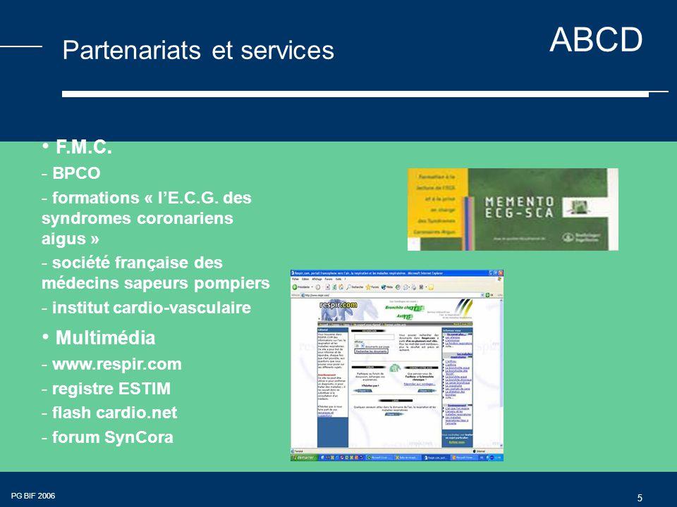 ABCD PG BIF 2006 6 Partenariats et services Thrombolyse Cardiologie Pneumologie BPCO Éditions