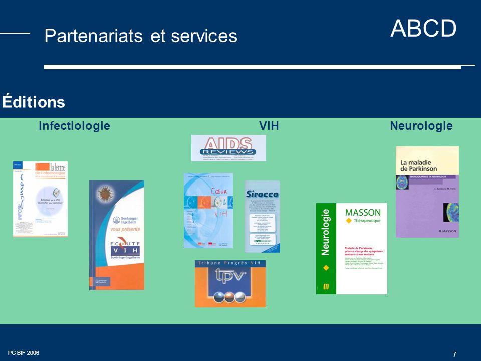 ABCD PG BIF 2006 7 Partenariats et services Infectiologie VIHNeurologie Éditions