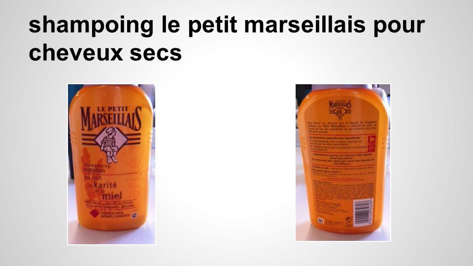 shampoing le petit marseillais pour cheveux secs