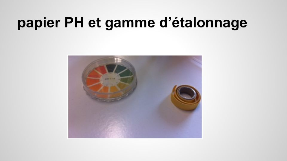 - Pipettes -Tube à essai -eau pour dillution