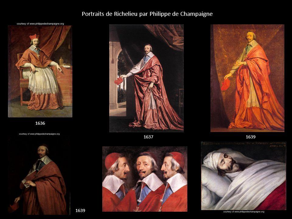Portraits de Richelieu par Philippe de Champaigne 1636 16371639