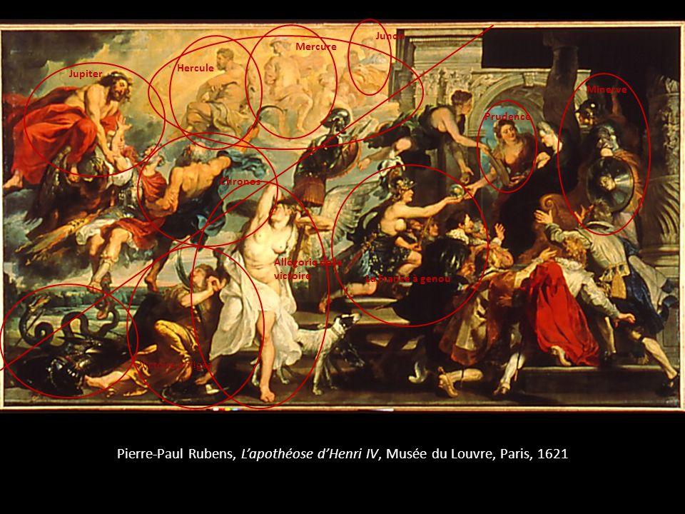 Pierre-Paul Rubens, Lapothéose dHenri IV, Musée du Louvre, Paris, 1621 Jupiter Chronos Hercule Mercure Junon Allégorie de la victoire Victoire affligé