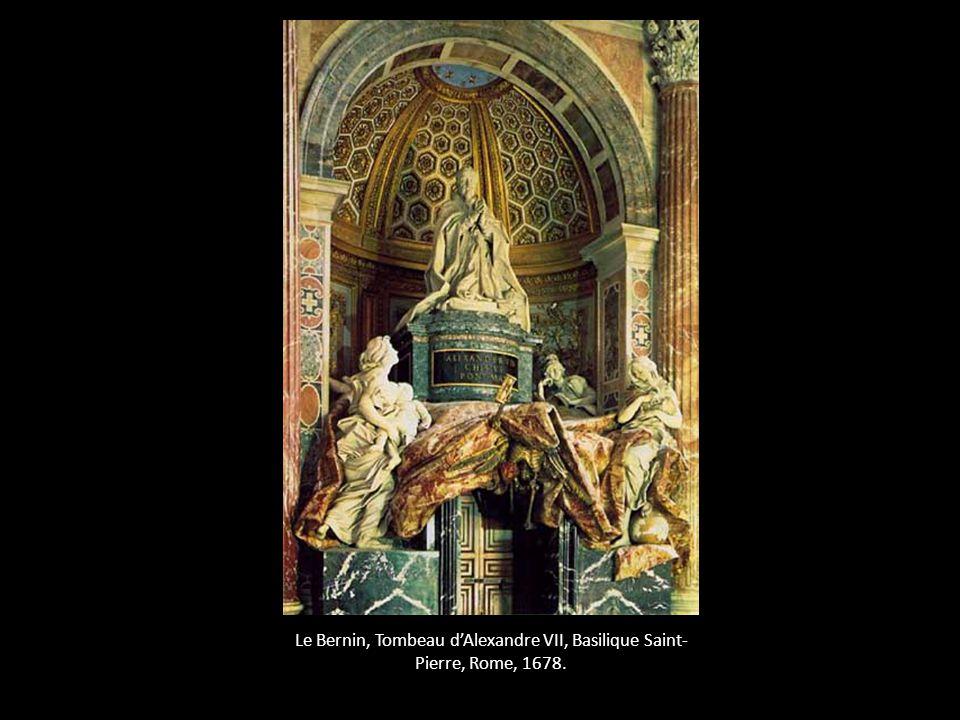 Le Bernin, Tombeau dAlexandre VII, Basilique Saint- Pierre, Rome, 1678.
