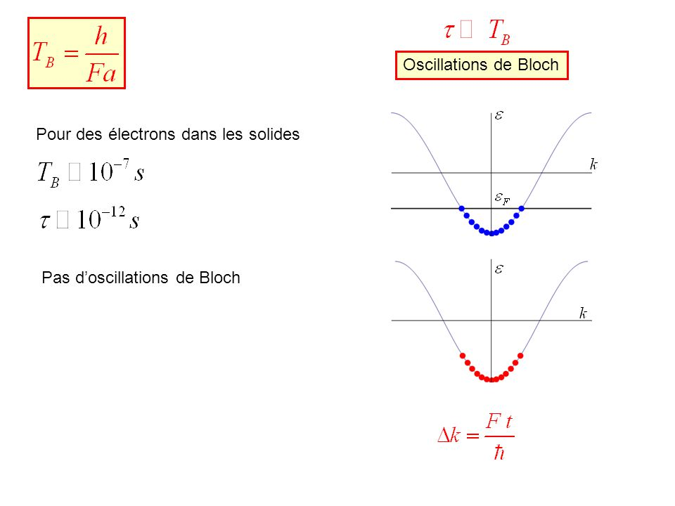 Atoms re-arrange and form optical lattice Bloch Oscillations of Atoms in an Optical Potential, M.