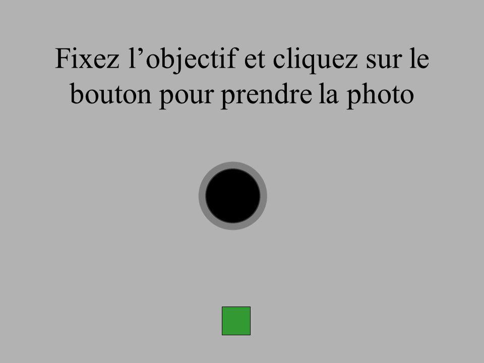 Fixez lobjectif et cliquez sur le bouton pour prendre la photo