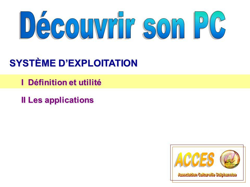 I Définition et utilité II Les applications II Les applications
