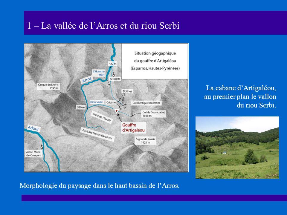 1 – La vallée de lArros et du riou Serbi La cabane dArtigaléou, au premier plan le vallon du riou Serbi.