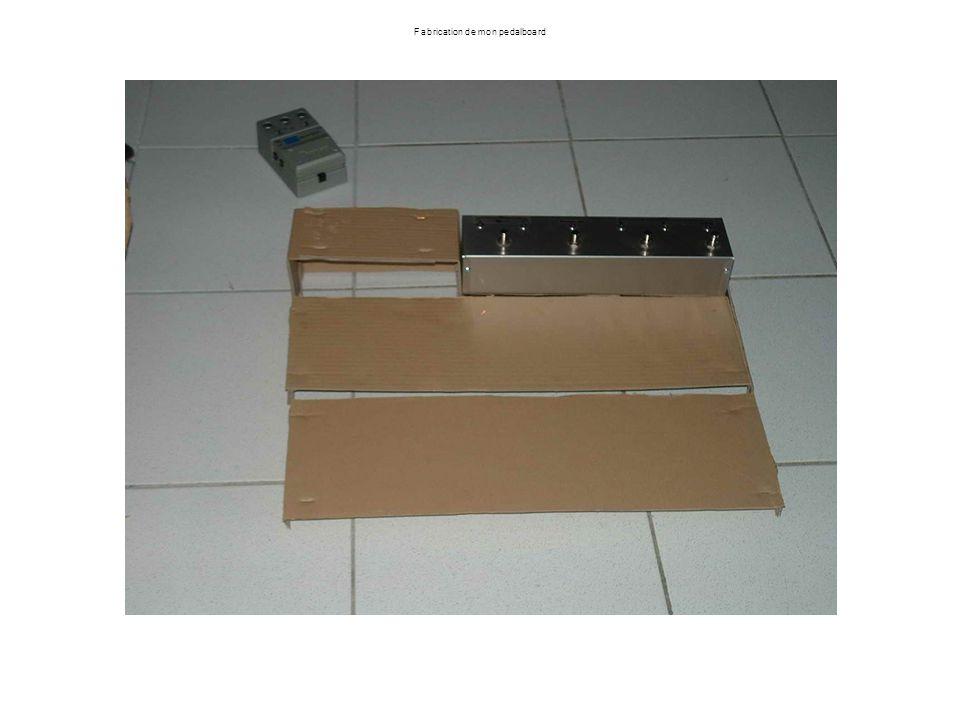 Fabrication de mon pedalboard