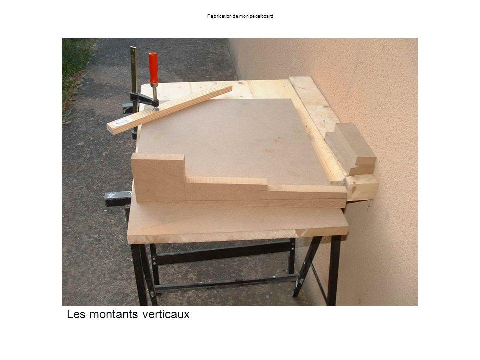 Fabrication de mon pedalboard Renvoi des trous des inserts dans les planches : les pions ont une petite pointe qui marque le bois à lendroit du perçage