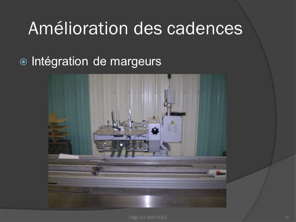 Amélioration des cadences Intégration de margeurs DI@LOG SERVICES13