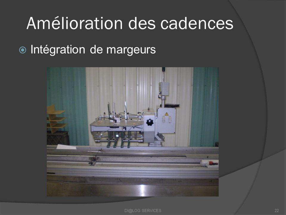 Amélioration des cadences Intégration de margeurs DI@LOG SERVICES22
