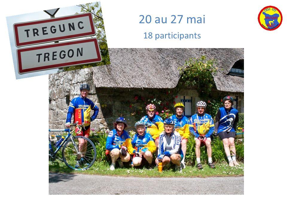 20 au 27 mai 18 participants