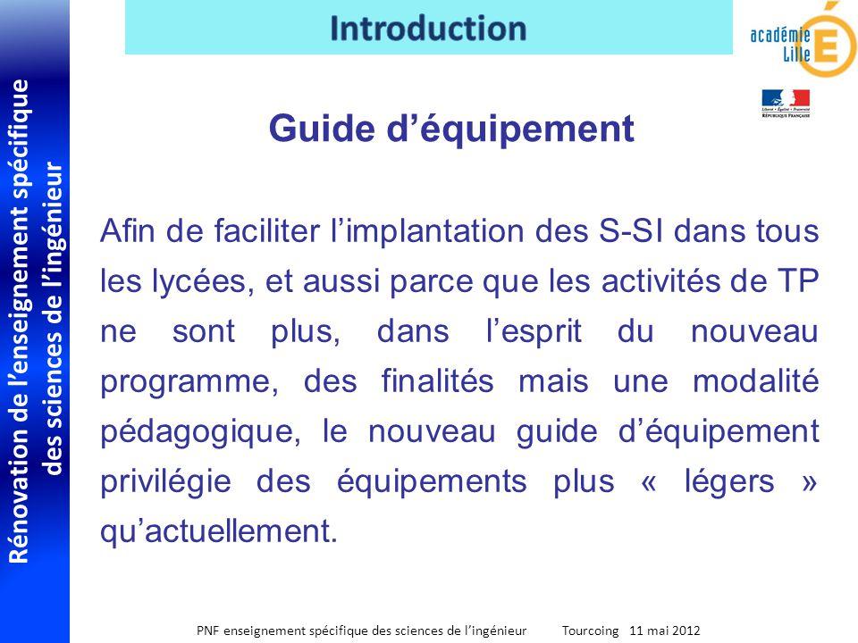 Rénovation de lenseignement spécifique des sciences de lingénieur PNF enseignement spécifique des sciences de lingénieur Tourcoing 11 mai 2012 Afin de