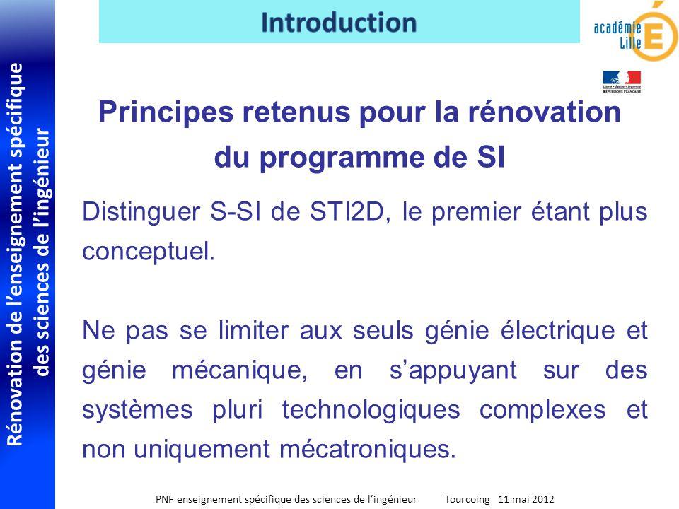 Rénovation de lenseignement spécifique des sciences de lingénieur PNF enseignement spécifique des sciences de lingénieur Tourcoing 11 mai 2012 Disting