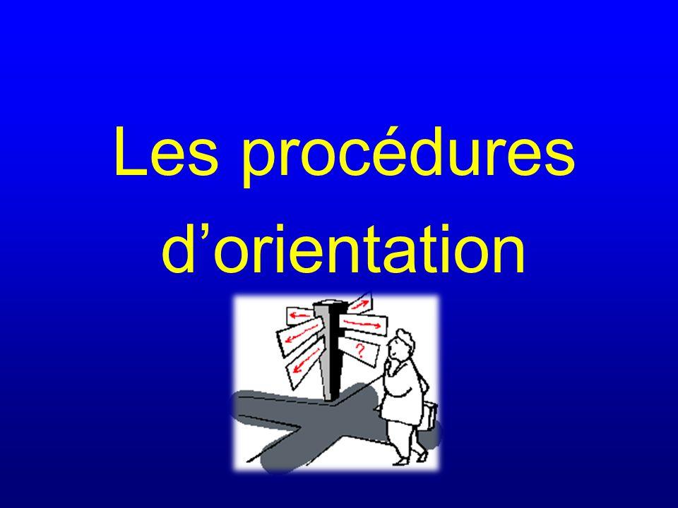 Les procédures dorientation